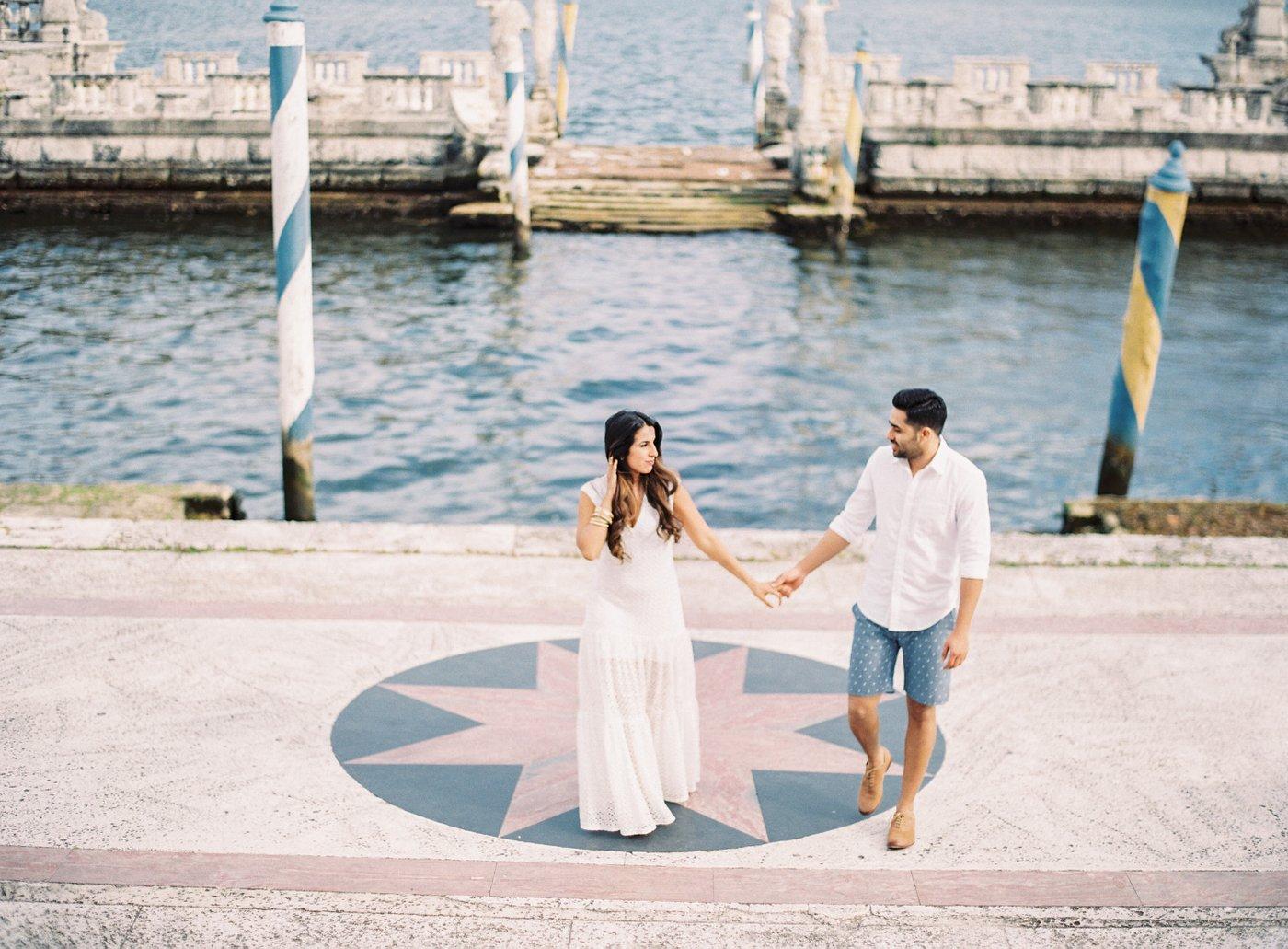 best enagement photos at vizcaya gardens in Miami florida