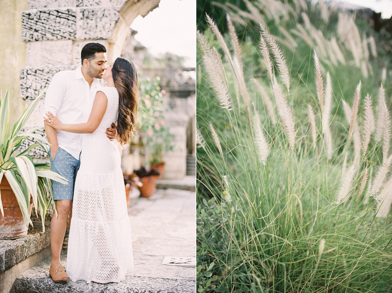 very best Vizcaya  Museum and Gardens engagement photos